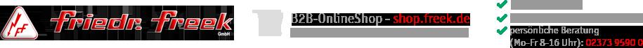 Friedr. Freek GmbH - B2B-OnlineShop für FreekComfortIR, Behälterheizungen, Infrarotstrahler und HotCoil-Wendelrohrpatronen